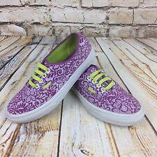 Floral Vans Purple Plimsolls Size 5 UK Ladies Womens Skate Shoes Trainers