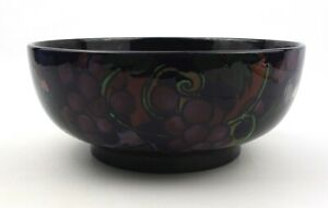 Early 20th C. Royal Stanley Ware Jacobean Bowl Bunches of Grapes c.1920's