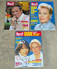 lot 3 ancien magazine paris match