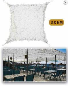 Filet de camouflage Blanc Renforcé acier 3 x 6 m
