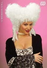 Ladies White Baroque Wig Tudor Noble Woman Beehive Fancy Dress