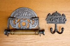 Cast Iron GWR Toilet Roll Holder And Coat Hooks Victorian Style Cast Iron