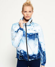 Superdry Mujer Chaqueta Gym Running Azul Ice Mountain