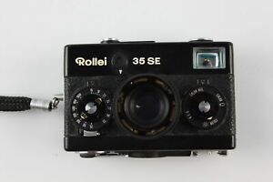 Vintage Rollei 35 SE FILM CAMERA All Black Colour-Way, Mechanically WORKING