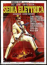 SEDIA ELETTRICA MANIFESTO CINEMA MILES DEEM ITALIA 1969 GANGSTER MOVIE POSTER 4F