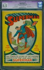 Superman 1 CGC 8.5 OW/W MP Golden Age Key DC Highest Grade Mega Grail IGKC L@@K