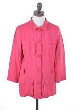 Trussardi Jeans Damen Blazer Jacke it 44 Medium Pink Leinen hb03
