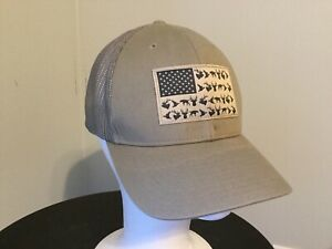 Columbia PHG AMERICAN FLAG Fitted Hat WHITETAIL DEER ELK DUCK TUSK SMALL MEDIUM