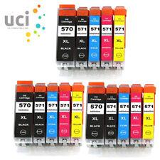 15 Ink Cartridges For Canon Pixma PGI570XL MG5750 MG5751 MG5752 MG5753 nonoem