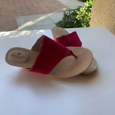 Bandolino Sarita Slip-On Wedge Sandals Size 7 Red