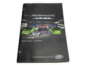 FPV BF, GT, GT Pursuit Ute Ford Performance Vehicles, Repair Manual Supplement