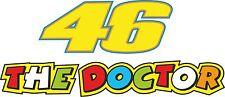 Motorbike Exterior Vinyl Sticker Race Number 46 Doctor Motorcycle Decal x 2