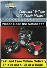 Briggs and Stratton 272144 Vanguard Twin Cylinder Ohv Repair Service Shop Manual