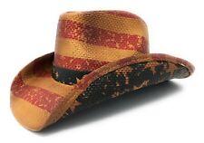 "Dorfman Pacific DPC Vintage American Flag Cowboy Hat ""Stomper Style"""