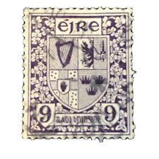 IRELAND, SCOTT # 74, 9p. VALUE VIOLET  DEFINITIVE 1922-23 ISSUE USED
