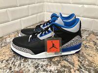 "Nike Air Jordan 3 Retro ""Sport Blue"" Style SZ 8.5 136064-007"