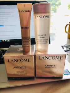 New Lancome Absolue Travel Set Rich Cream Night Mask Rose 80 4PIECES
