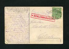 """Österreich - """"Schlernhäuser"""" Postablage in rot auf Ansichtskarte 1910   (#711)"""
