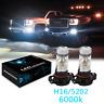 White SMD H16 5202 LED Fog Light Bulbs 6000K Fit for Chevy GMC Sierra 3500HD