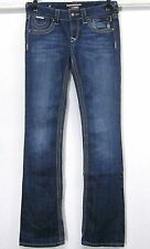 REROCK EXPRESS WOMENS (2R) BARELY BOOT 30x33 MEDIUM BLUE STRETCH JEANS LOW RISE