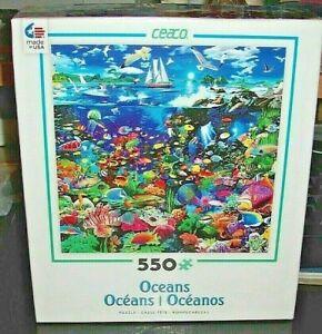 Ceaco Jigsaw Puzzle ~ Oceans ~ TROPICAL LAGOON ~ 550 Pc ~ Fish Sea Life Birds