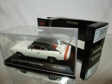 MINICHAMPS DODGE CHARGER R/T HARDTOP COUPE 1968 - WHITE 1:43 - EXCELLENT IN BOX