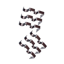 6Pcs Brown Drapery Double Curtain Rod Wall Bracket Holder Heavy Duty