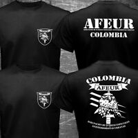 New Rare AFEUR Colombia Army Elite Special Forces Military Logo T-shirt