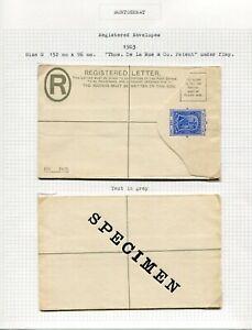 MONTSERRAT REGISTERED ENVELOPES 1903 SIZE G & H2 (3 INC 1 SPECIMEN)