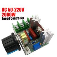 2-tlg PWM Drehzahlregler 2000W 50-220V AC 25A Drehzahlregler Spannungsregler EU