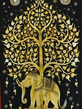 Twin Tree of Life Indian Elephant Tapestry Wall Hanging Hippie Throw Dorm Decor