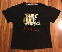 Vintage Paul Smith Black T-Shirt Striped Mini Cooper Car Signature Logo S RARE