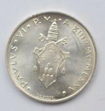 Vatican 500 liras silver 1975 BU