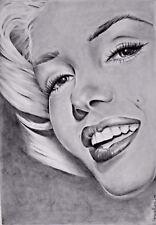 Marilyn Monroe,Original Graphite Pencil Drawing,Realism