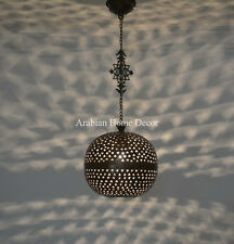 Handcrafted Oxidize Brass Moroccan Hanging Lamp Light Pendant