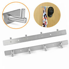 Stainless Steel Coat Robe Hat Clothes Wall Mount Hanger 5 Hooks Towel Rack