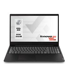 "Notebook Lenovo Pc portatile i3 10th 15 6"" Ram 8Gb SSd M.2 512 Gb Windows 10 Pro"
