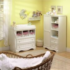 White Baby Changing Table Station South Shore Savannah 2 Drawer Pure Furniture