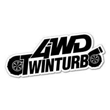 4WD TWIN TURBO JDM Sticker Decal Car Drift Turbo Euro Fast Vinyl #0946E