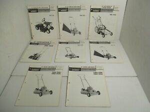 8 - Montgomery Ward Snow Thrower Lawn Mowers Tractors Parts Operators Manual