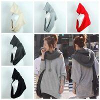Fashion Women Girl Lady Knitting Knit Hooded Scarf Shawl Hood Wrap Hat Stole