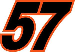 NEW FOR 2019 - #57 Kyle Larson Sprint Car Racing Sticker Decal - SM thru XL