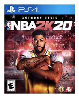 NBA 2K20 PS4 BRAND NEW FACTORY SEALED FREE SHIPPING! PLAYSTATION 4 Basketball