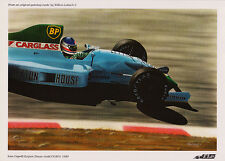 Ivan Capelli Leyton House-Judd CG901 by Willem Lubach Open Edition Mini Print