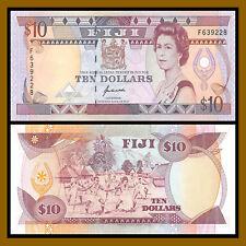 Fiji 10 Dollars, P-94a QEII Unc