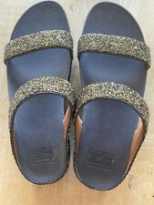 Fit Flops Brown Sparkle Double Strap Size 7 Worn Once Indoors