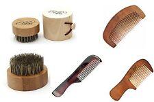 Barba Cepillo de pelo redondo con 3 peines Gratis