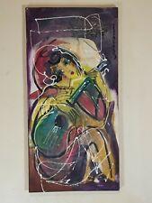 """HRASARKOS Tableau Peinture Mixte sur panneau 40 cm x 80 cm (""""Musik"""")"""