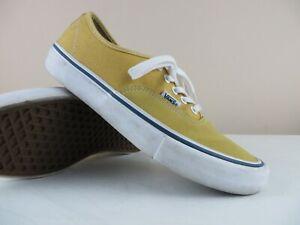 VANS Men's 9.5 Mustard Yellow Canvas Lace Up Low Top Skate Shoes