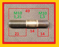 5 Stück Krümmer Stehbolzen M10x49 eine Seite Feingewinde 1,25, Hitzefest